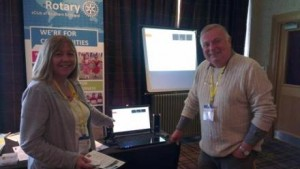 Lynne and Gordon at District Conference
